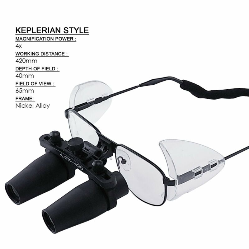 4 0x Magnification Dental Loupes Prismatic Keplerian Style