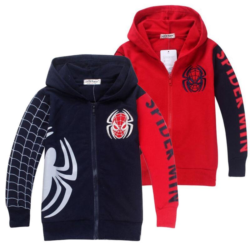 Kids Boys Hooded Hoodies Sweatshirt Jacket Coat Outwear Top Casual Party Clothes