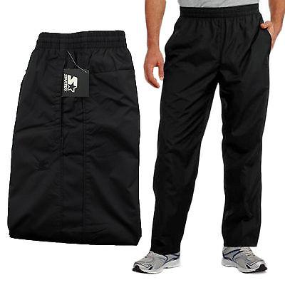 New Starter Mens Mesh Lined Black Athletic Track Pants Large (36-38) Drawstring