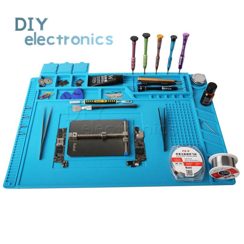 Magnetic Heat Silicone Pad Desk Mat Soldering Repair For BGA US