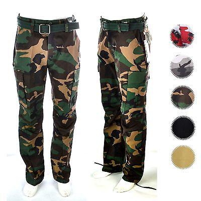 Mens Fatigue Pants - Mens Military Army Camouflage Camo Cargo Fatigue Pants Combat