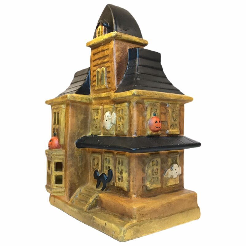 Vintage Lighted Halloween Haunted Ghost House By Frankel WORKING