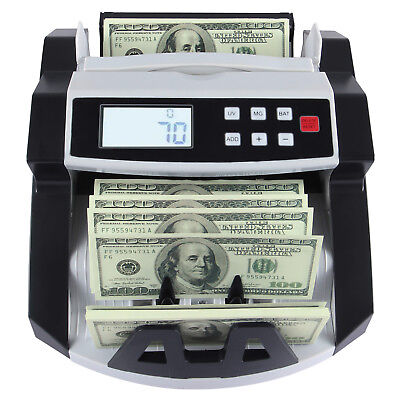 New Bill Money Cash Counter Counting Machine Bank Counterfeit Detector Uvmg