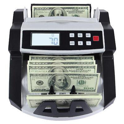 New Bill Money Cash Counter Counting Machine Bank Counterfeit Detector Uvmg
