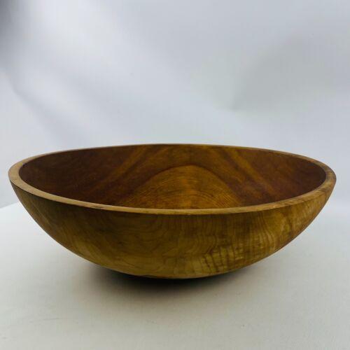 "Vintage Primitive Wood Dough Bowl Handmade 17"" Oval Antique Rustic Farm Country"