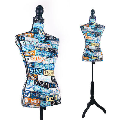 Female Dress Form Mannequin Torso Body With Black Adjustable Tripod Stand