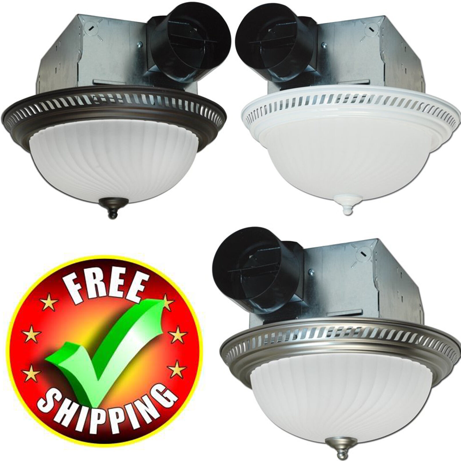 Bath Fan Light Round Bathroom Exhaust Ventilation Vent Ceili