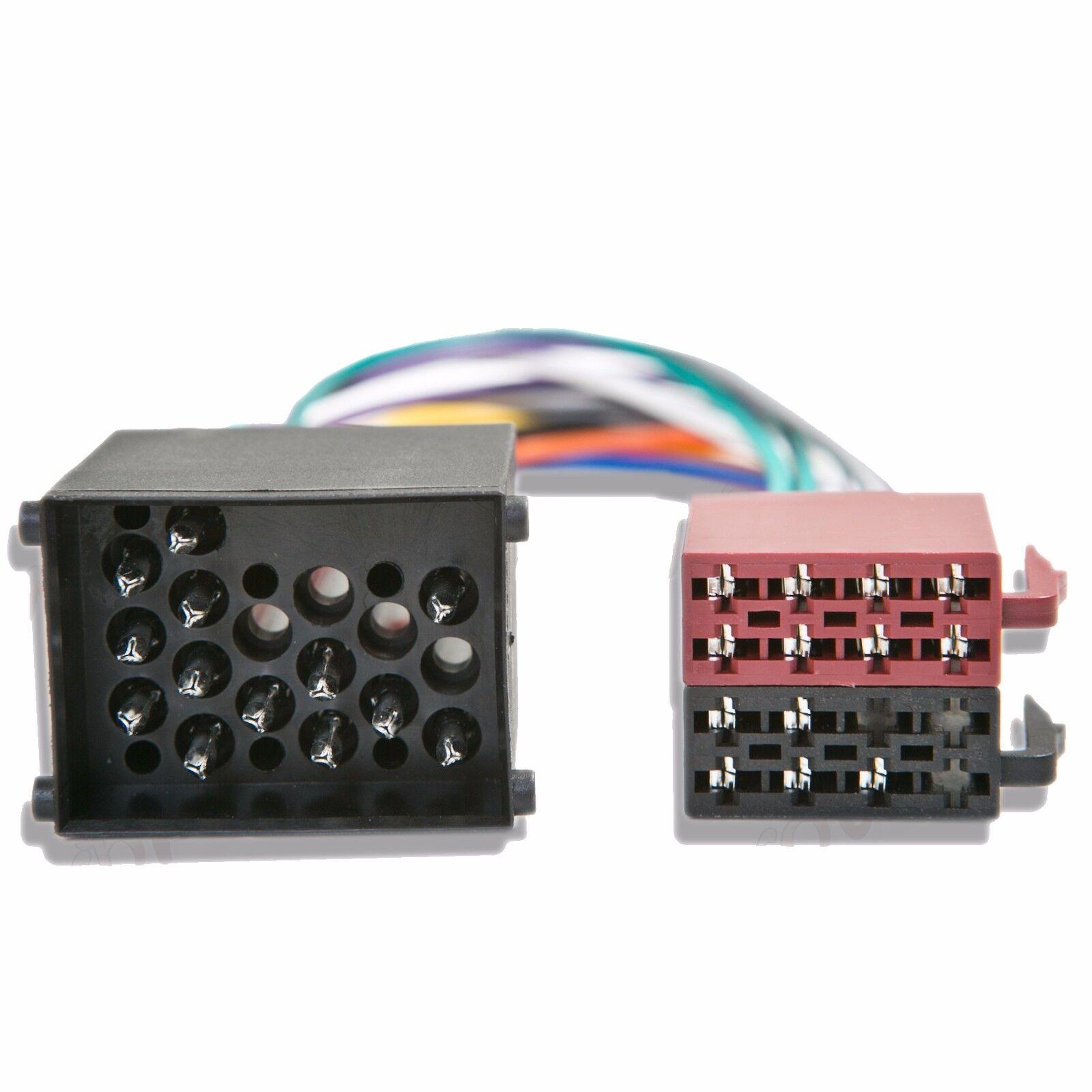 Bmw Mini Iso Stereo Car Audio Head Unit Harness Adaptor Wiring Lead Connectors
