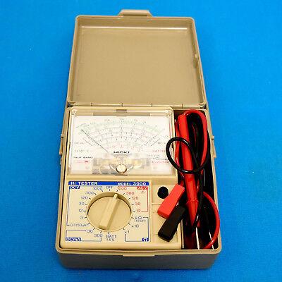 Hioki 3000 Digital Mulimeter Card Hi Tester W Leads Case - Japan Made
