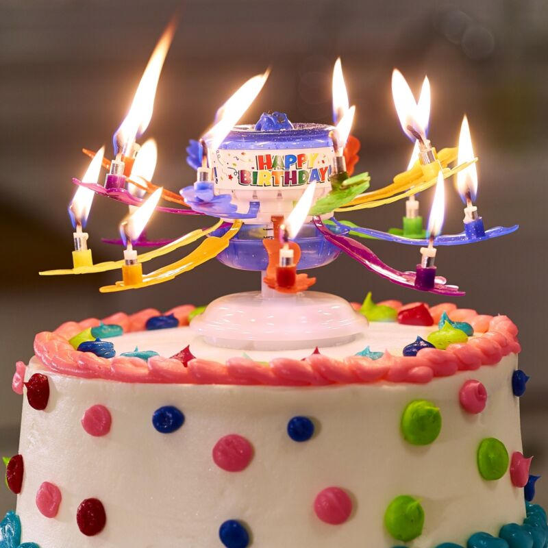 Incredible Candle – Rotating Musical Candle for Birthday Cakes -– Glitter