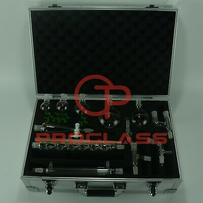 Proglass Primay Organic Chemistry Kit 1420 Lab Glassware Kit With Cabinet Box