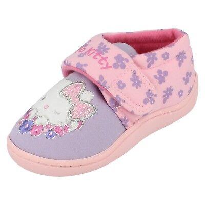 Mädchen-lila und Rosa Hausschuhe von Hello - Lila Und Rosa Kitty Schuhe