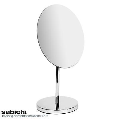 Freistehende Badezimmer-spiegel (Sabichi Miami Badezimmer Make-Up Spiegel Oval Rund - Freistehend Podest, Chrom)
