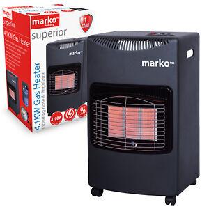 Gas Heater Wheeled Portable Freestanding Calor Cabinet Fire Home Office Butane