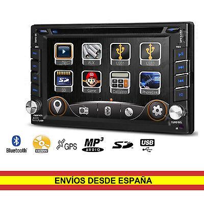 Auto Radio CD DVD Coche Universal 2 din 6,2