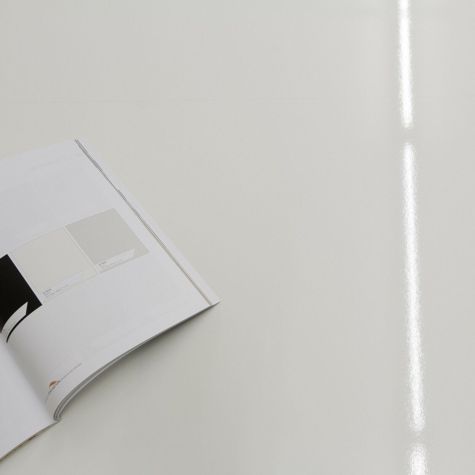 Hochglanz Klick XXL Laminat Weiss ohne V-Fuge Kronotex Glamour MAX (24,95€/m²)