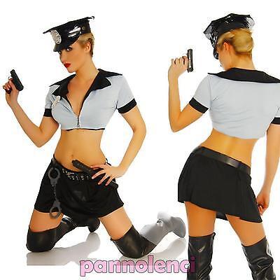 Kostüm Karnevalkleid Polizistin Polizei 5 Stück Hut Halloween (Polizei Kostüm Weiblich)