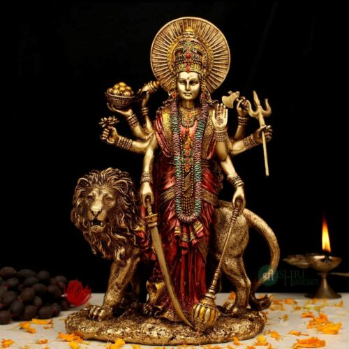 Durga Maa Statue Amba Statue Best Gift for Mothers Durga with Lion Home Decor