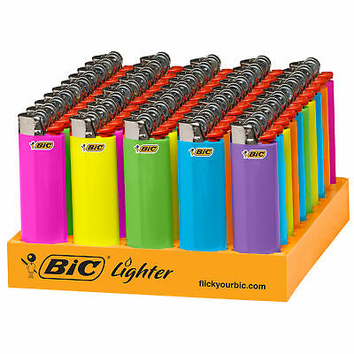 BIC Classic Lighter, Fashion Assorted Colors, 50-Count Tray