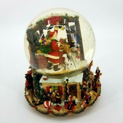 Kirkland Signature Musical Snow Globe #109619 Revolving Base Christmas Santa