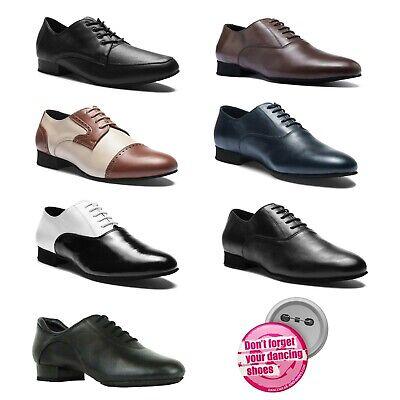 Tanzschuhe Herren Latein Turnier Tanz Schuhe Leder Pirou P100 Luis Button