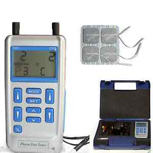 PHYSIO DUO TENS + machine, EMS muscle training unit, 4+8 pads free adaptor 100mA
