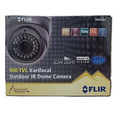 FLIR 900 TVL Varifocal Outdoor IR Dome Security Camera DBV534TL