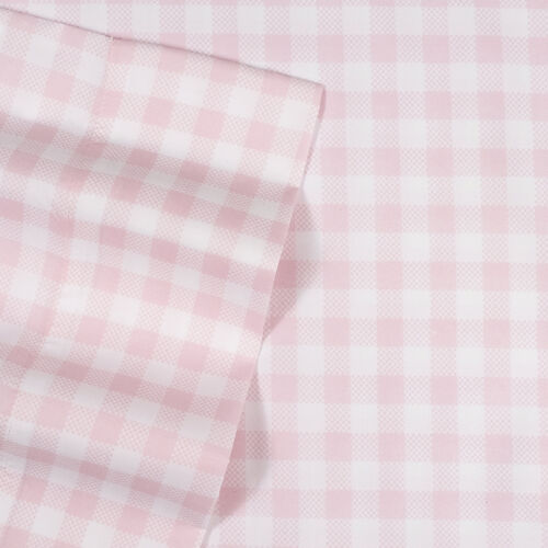 Pink Gingham Pattern Kids Sheet Set Twin, Twin XL, Full Bedding