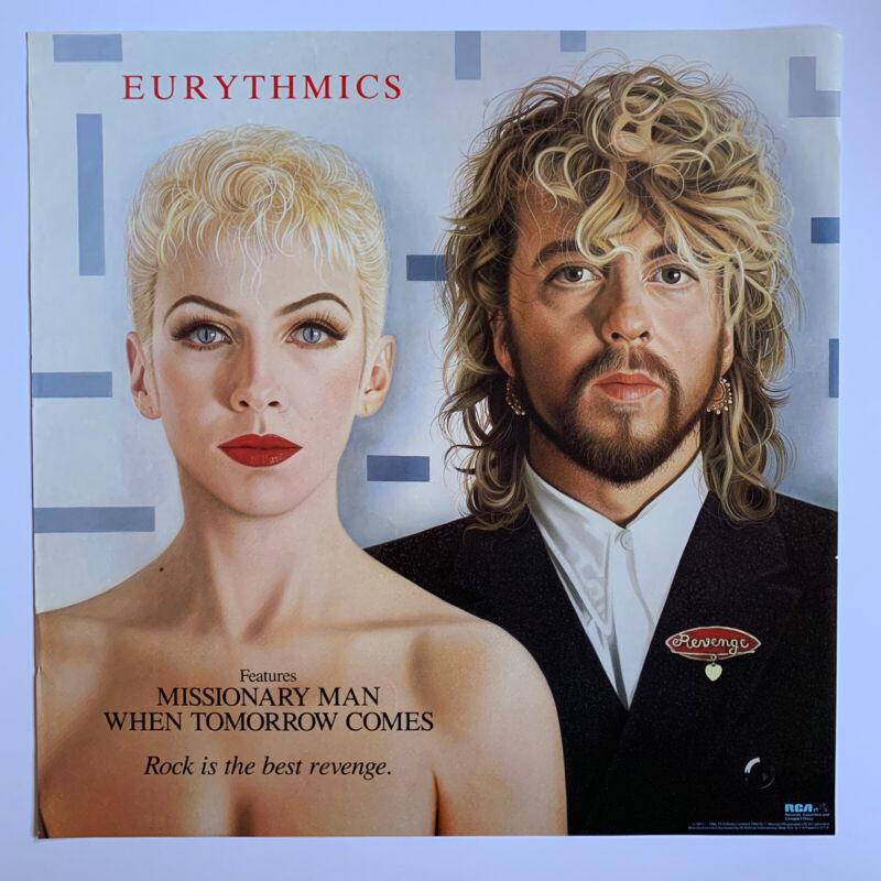 "Original 1986 Eurythmics Revenge Promotional Rock Poster 22"" X 22"" Annie Lennox"