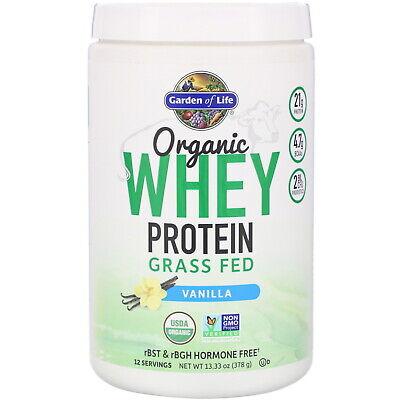 Organic Whey Protein Grass Fed, Vanilla, 13.33 oz (378 g) Organic Whey Protein Powder