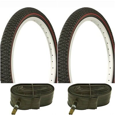 OF VEE RUBBER 20X1.95  BICYCLE BIKE TIRE  BMX FREESTYLE V186 2 2 Tubes PAIR