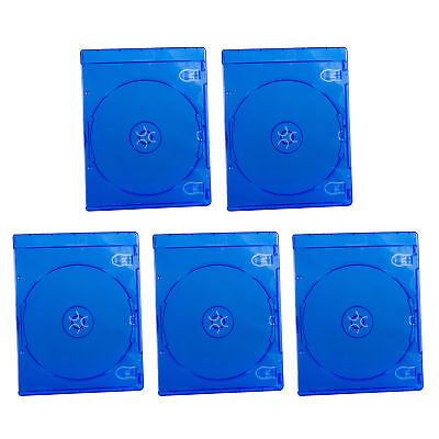 5pcs Empty Blu ray Logo Case 7mm Single Plastic CD DVD Disc Cover Storage Cover