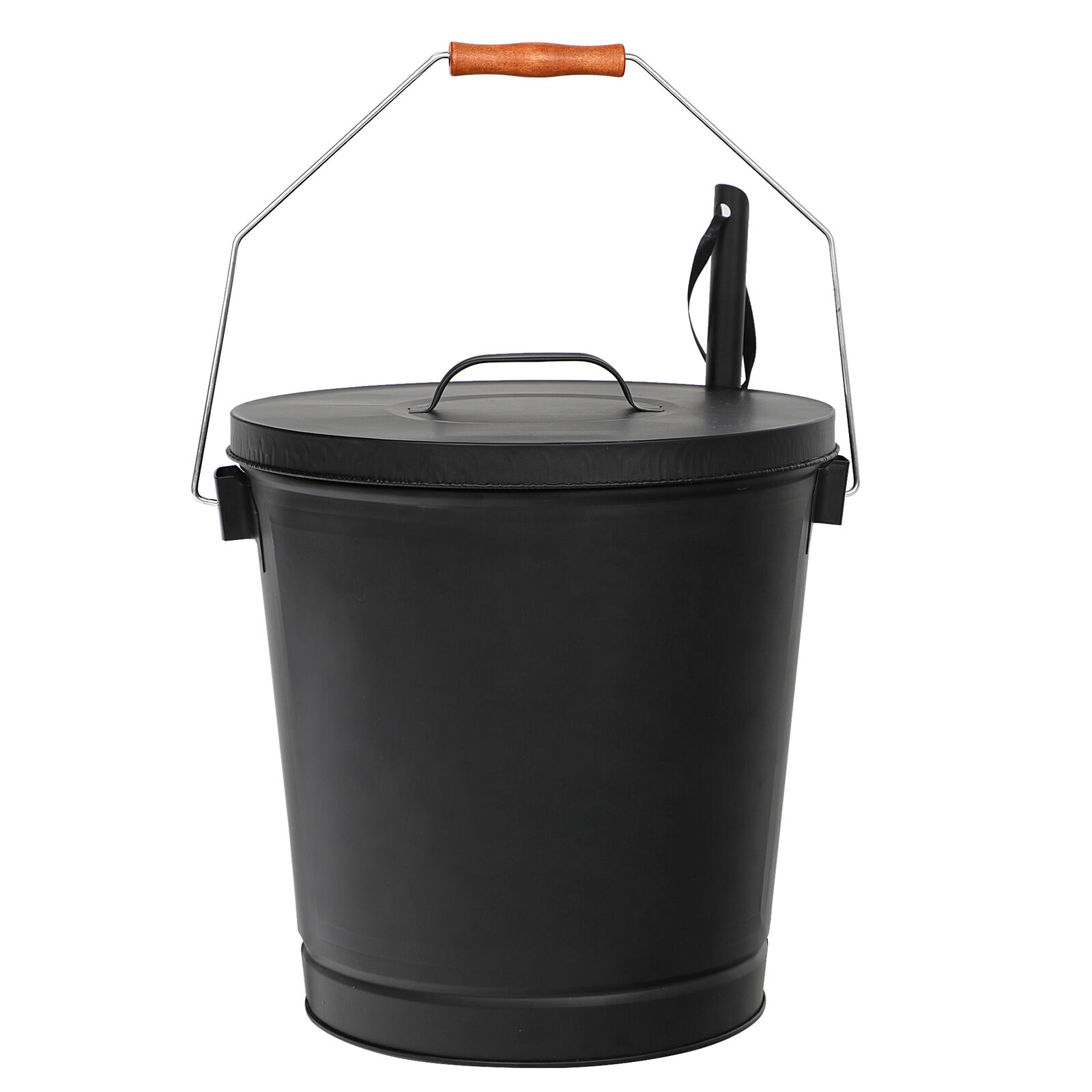 5 Gallon Black Ash Bucket with Lid and Shovel For Fireplaces Fire Pits Stoves Fireplaces & Stoves