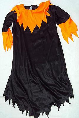 Kobold Kostüm Mädchen (Hexe Hexenkleid Kleid Zauberer, Kobold Gr. 152 Mädchen Kostüm Karneval )