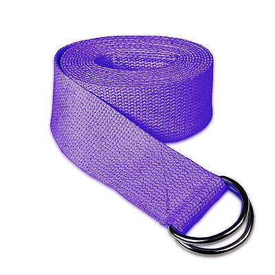 PRO Cotton Yoga Stretch Strap NEW Plane D-Ring Leg BELTFitness Exercise GymSPORT