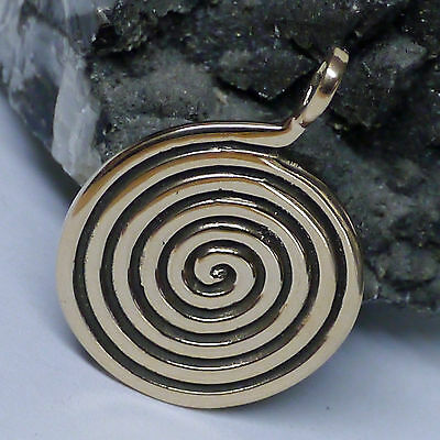Kraftamulett Lebensspirale Anhänger aus Bronze Kelten Viking Mittelalter Wicca
