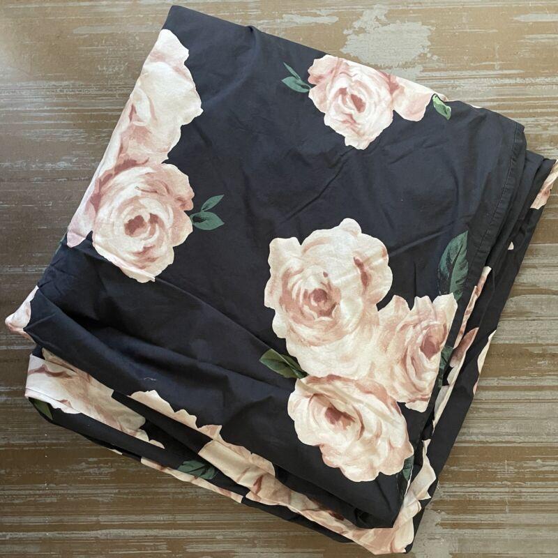 Emily Merritt for Pottery Barn Teen Bed of Roses Duvet Cover Full Queen Size