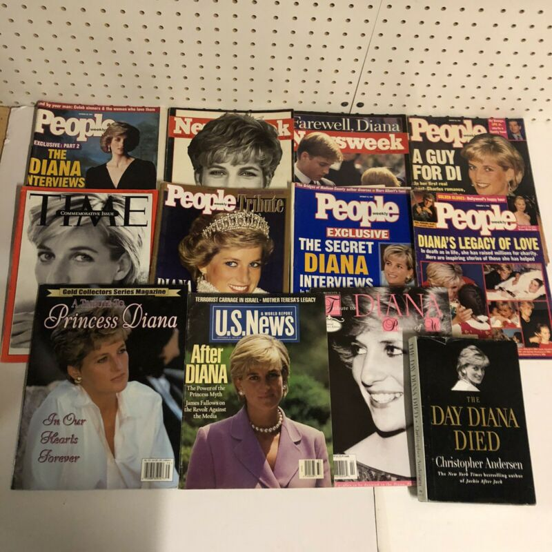 Lot of 11 Magazines Princess Lady Diana Spencer Royal Family The Day Diana Died