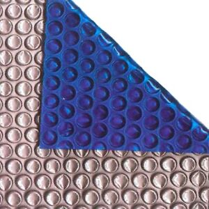 24ft x 12ft Oval Silver/Blue 400 Micron Swimming Pool Cover Solar Heat Retention