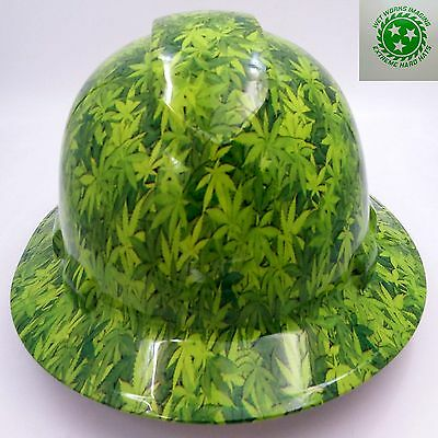 Hard Hat FULL BRIM custom hydro dipped , OSHA approved 420 CAMO HIGH TIMES
