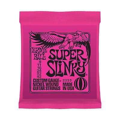 Bola de Ernie Super Slinky Cuerdas Guitarra Eléctrica 9-42
