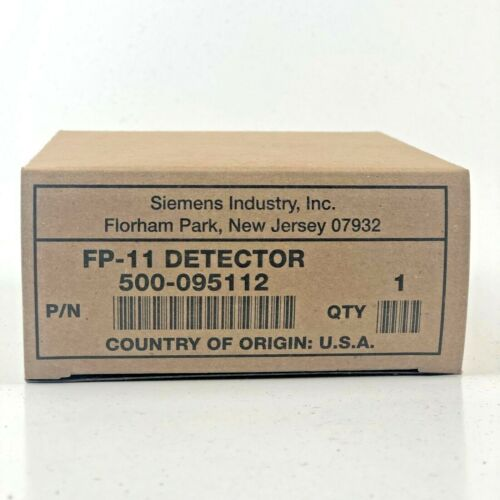 SIEMENS FP-11 FIREPRINT INTELLIGENT FIRE DETECTOR