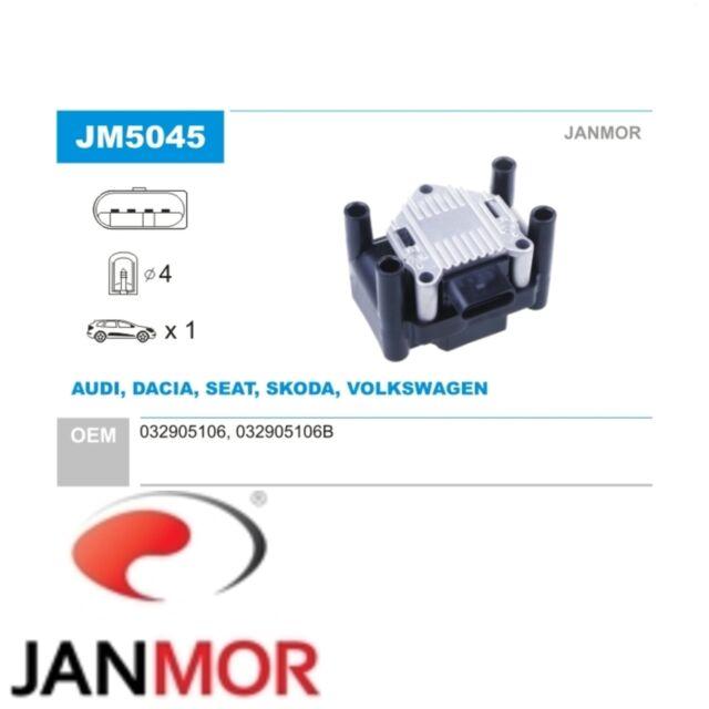 JANMOR Zündspule Zündmodul AUDI SEAT SKODA VW JM5045