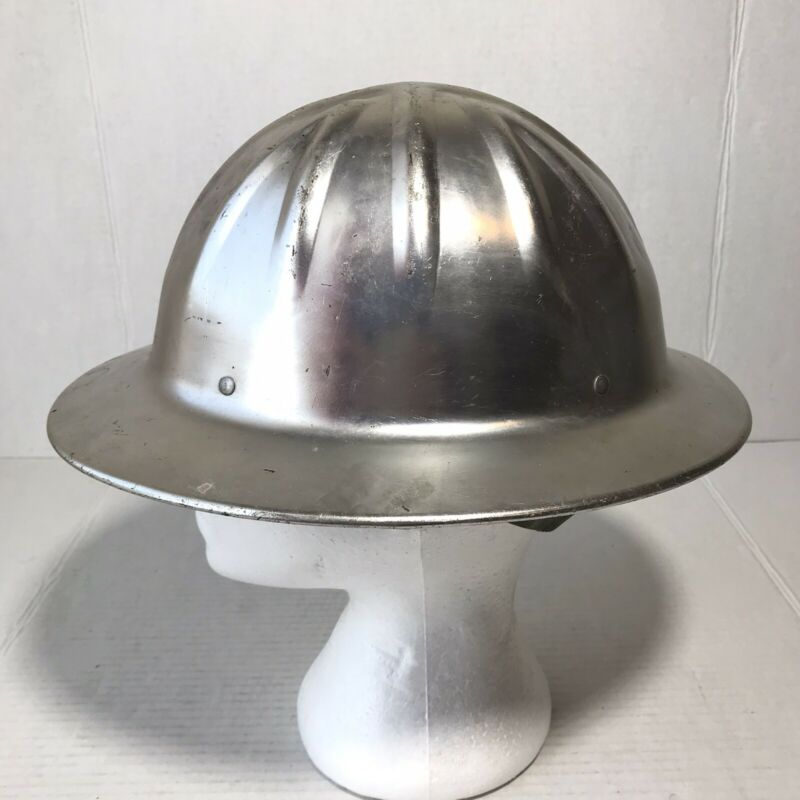 Vintage Willson Geotec Aluminum Lightweight Hard Hat Safety Helmet Made in USA