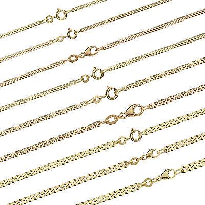 Panzerkette Massiv gelb Gold Kette Halskette Collier Echtschmuck Damen Herren (Halskette Gold)