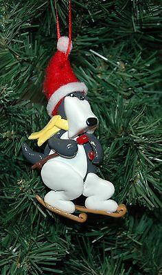 Dog, Canine, Snow Ski, Skiing Christmas Ornament