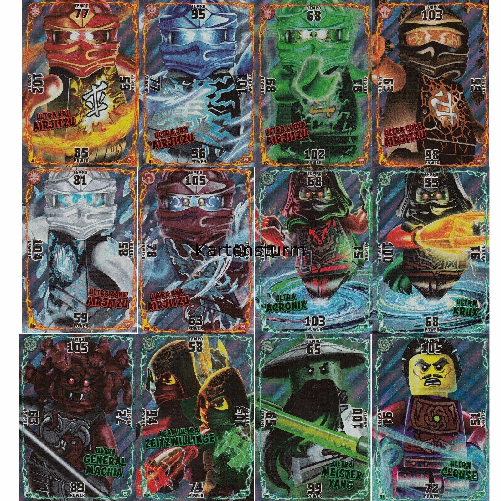Lego® Ninjago™ Serie 2 Sammelkarten - Ultra Karte zur Auswahl Glitzer