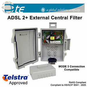 ADSL2+ External Central Telstra Phone Line Filter Splitter MODE3 ADSL ADSL2