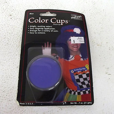Mehron Blue Color Cup Easy to Remove Halloween Costume Makeup