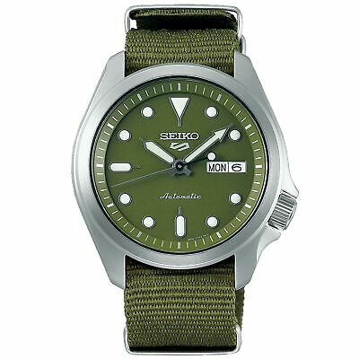 Seiko 5 Sports Green Dial Green Nylon Strap Men's Watch SRPE65K1 RRP £230